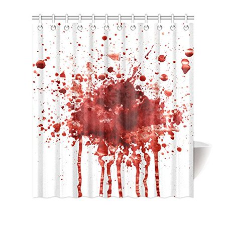 MKHERT Funny Splattered Blood Stain Horror Halloween Theme House Decor Shower Curtain for Bathroom Decorative Bathroom Shower Curtain Set 66x72 inch](Halloween Bathroom Decor Ideas)