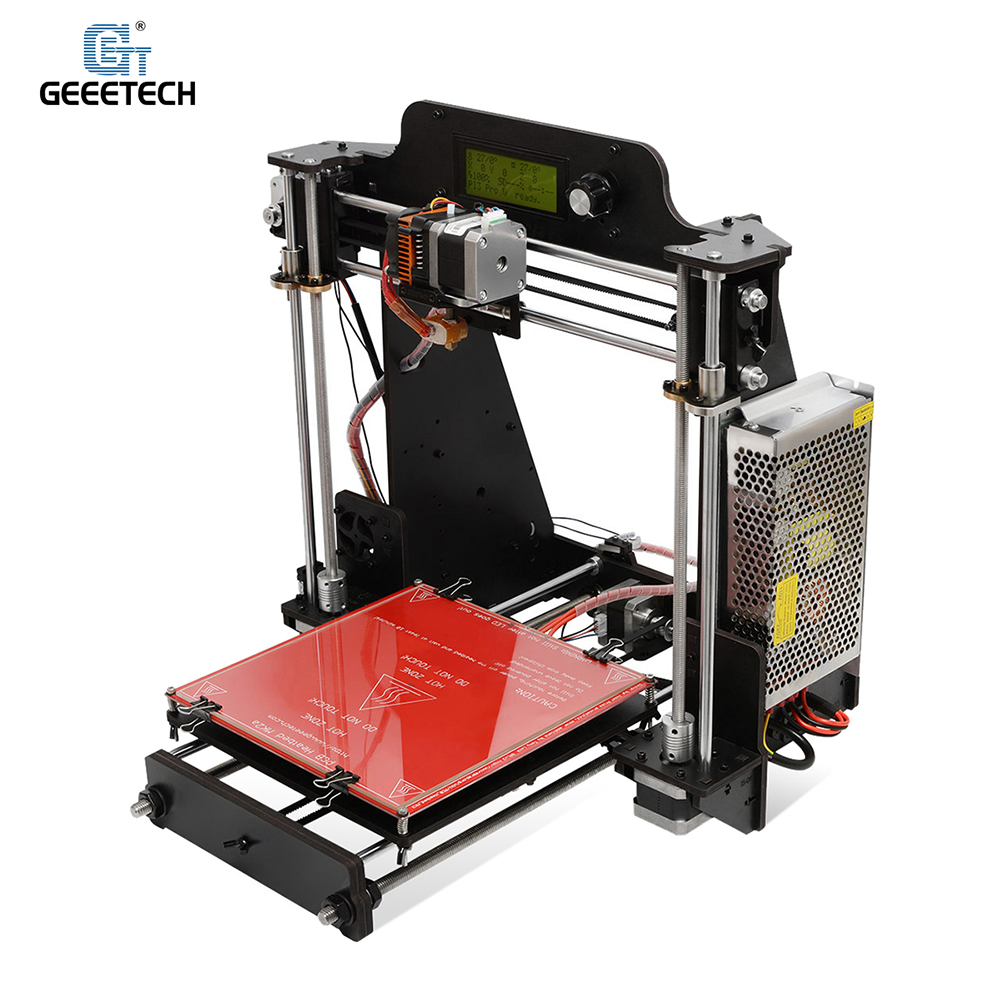 Geeetech I3 Pro W High Precision Desktop 3D Printer i3 DIY Self Assembly Kit Printing Size 200 * 200 * 180mm Support Off-line Printing ABS/PLA/Flexible PLA/Nylon/Wood Polymer Filament