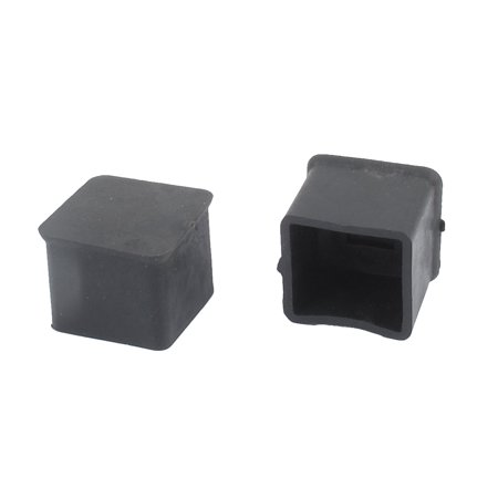 2pcs Rubber Square Furniture Table Chair Foot Leg Tip Pad