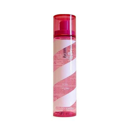Pink Sugar Raspberry Perfume - Pink Sugar by Aquolina 3.4 oz Hair Perfume Spray for women