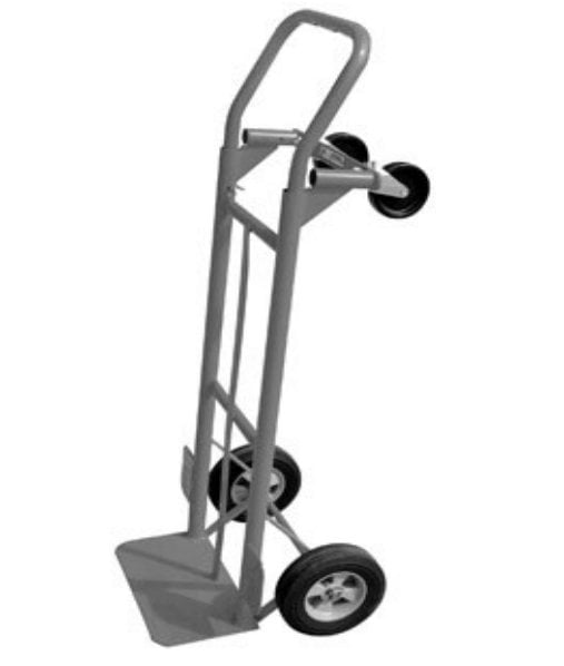 """Milwaukee Hand Trucks 35081 Convertible Truck with Puncture Proof Tires, 8"""" by Gleason-Hand Trucks"""