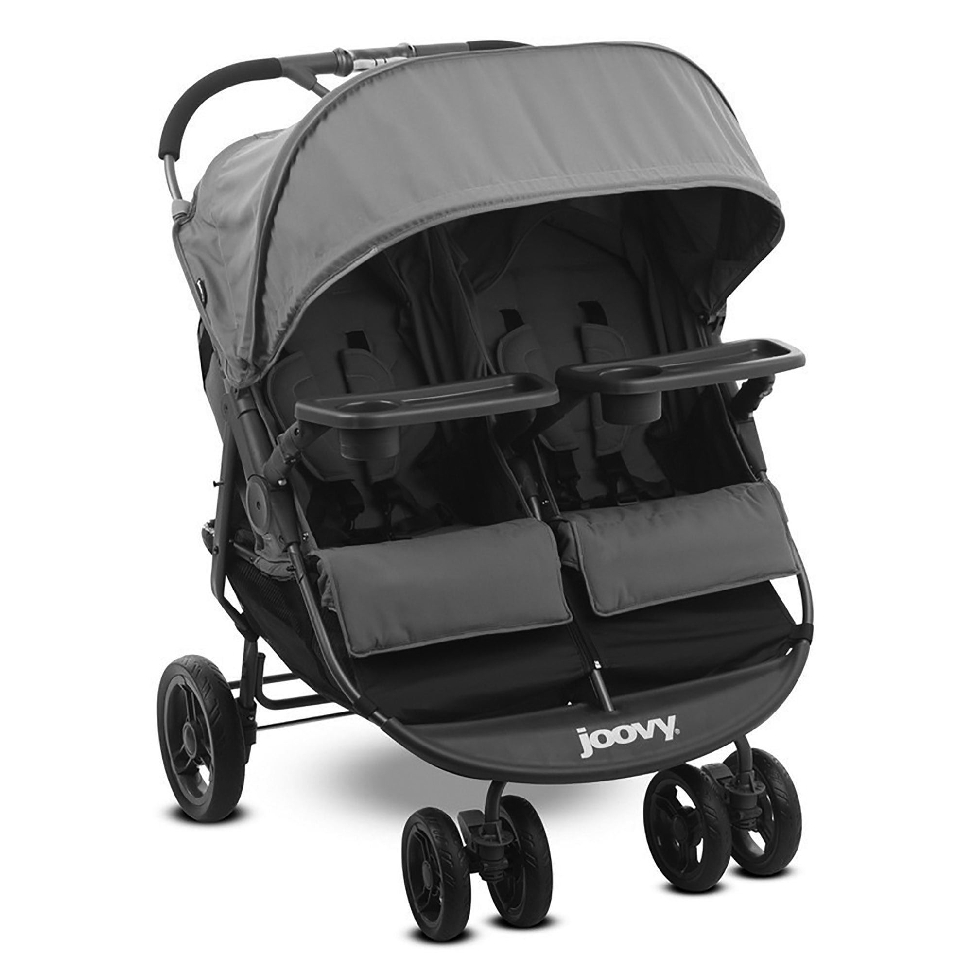 Joovy Scooter X2 Double Stroller with Snack Trays Charcoal by Joovy