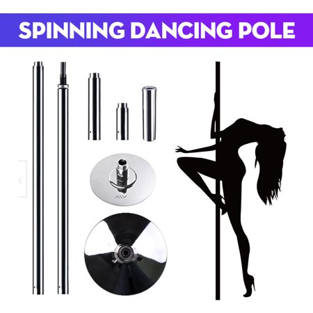 Portable 9FT 45mm Spinning Dancing Pole Kit Fitness Dance Sport Exercise Club Party Pub Home