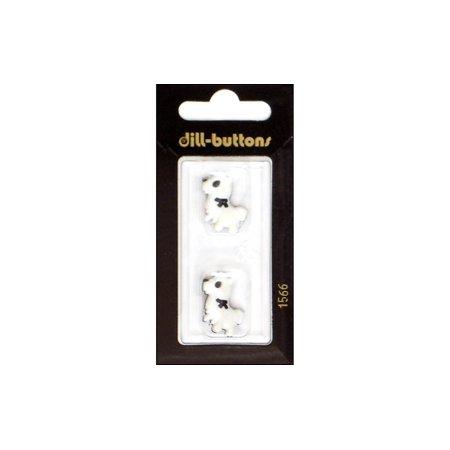 Dill Buttons 22mm 2pc Shank Little Dog