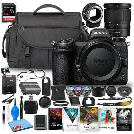 Nikon Z 7II Mirrorless Camera with 24-70mm Lens (International) SD + FTZ Bundle