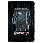 Friday The 13Th Poster Woven Throw Tapestry 36X60 White One Size