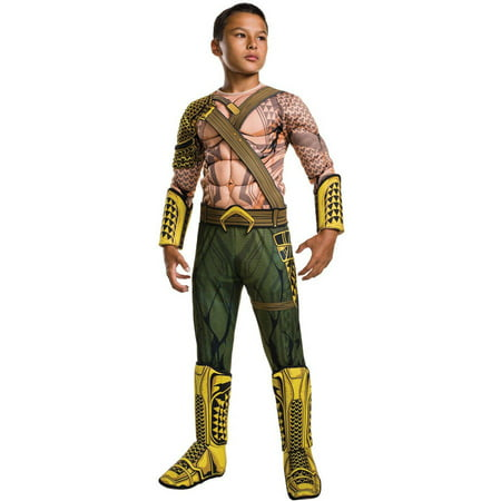 Batman Vs Superman: Dawn of Justice Deluxe Aquaman Child Halloween Costume - Bald Man Halloween Ideas
