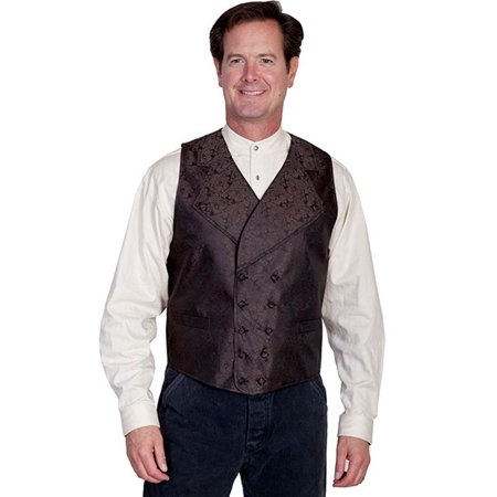 Scully Western Vest Mens Double Breasted Scroll Paisley RW227BX