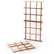 All Things Cedar Classic 1.75-ft. Cedar Wood Lattice Trellis Kit