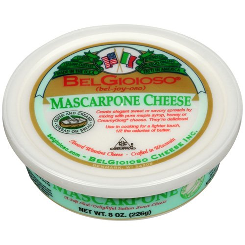 BelGioioso Mascarpone Cheese, 8 oz Cup, Spreadable Cheese