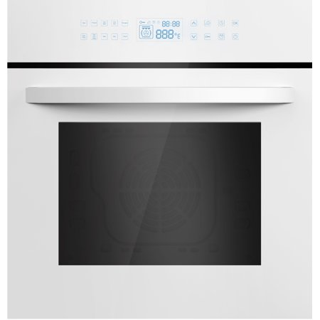 Empava 24 In. Electric Built-in Convection Wall Oven with LED Display Touch in White