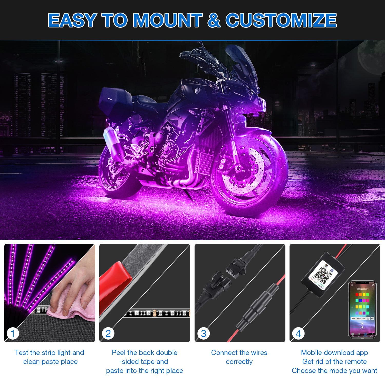 Blue NovelBee 8 Pack of 18 Soft Loop Tie Down Straps for Securing ATV,UTV,Motorcycles,Dirt Bikes,Load Capacity 1,500lb