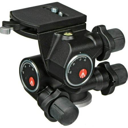 Manfrotto410 3-Way, Geared Pan-and-Tilt Head with 410PL Quick Release Plate ()