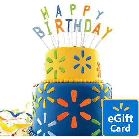 Birthday Cake Walmart EGift Card