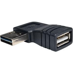 Tripp Lite USB 2.0 High Speed Adapter Reversible A to Right Angle A M/F - (Reversible A to Right Angle A M/F)