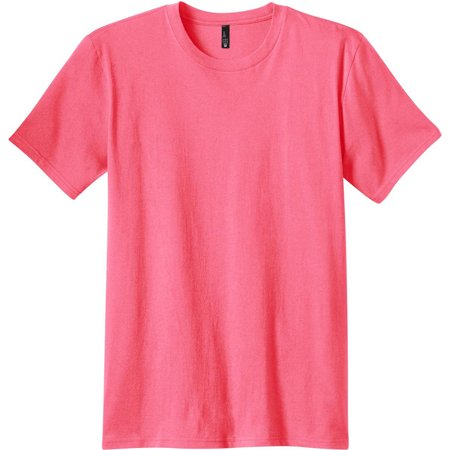 District Threads Young Mens Concert Tee. Neon Pink. 3XL.](Neon Shirt)