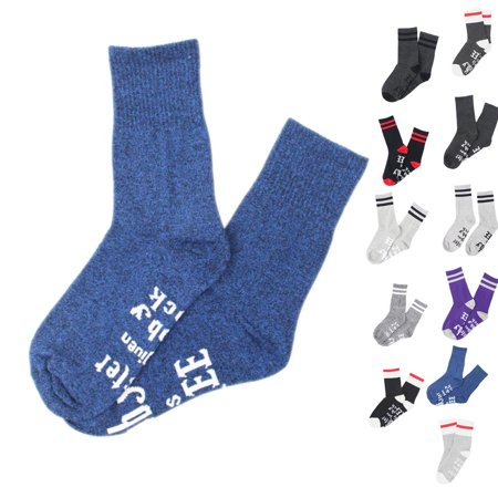 Winter Women Men Socks Vintage Style Knit Wool Casual Letters Hose Thick Warm Colorful Hosiery - image 2 of 9