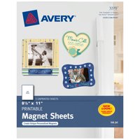 Avery Printable Magnetic Sheets, Inkjet Printers, 5 Sheets (3270)