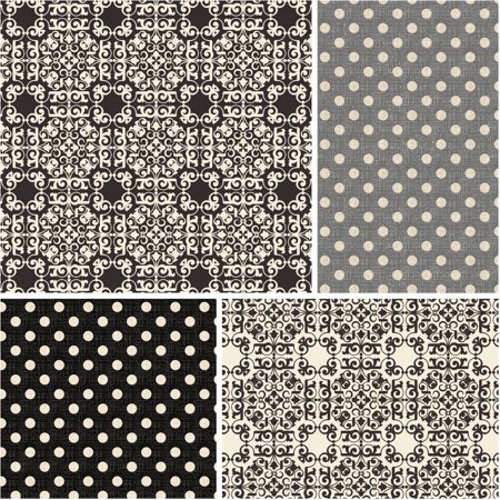 David Textiles Parfum Tiles   Dots 44  Quilting Cotton Fabric By The Yard