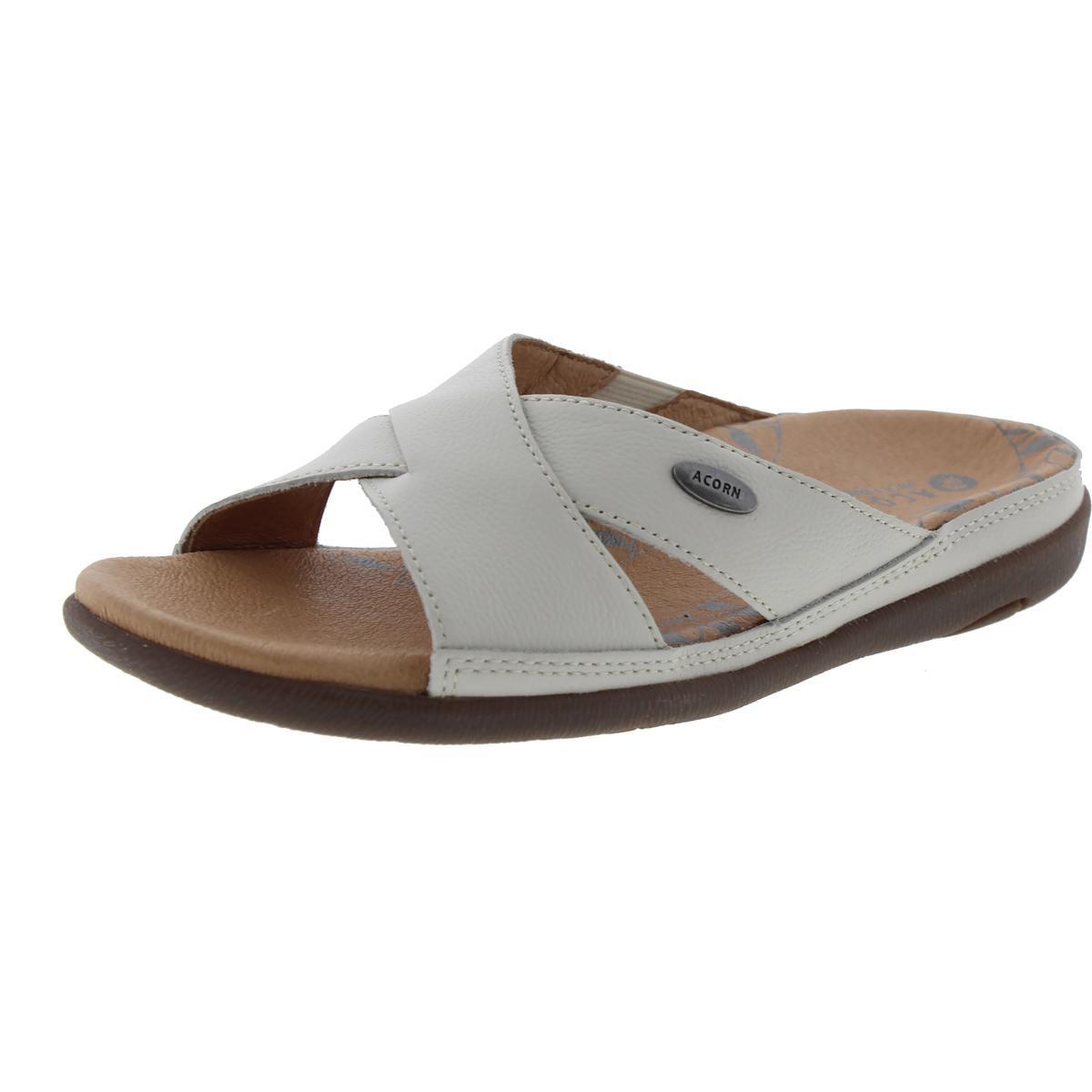 ACORN Womens Prima Cross Slide Dress Sandal