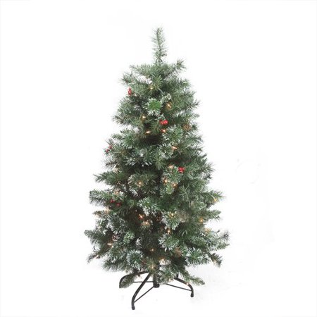 Northlight Seasonal 4' Green Pine Artificial Christmas Tree with 100 Clear Lights