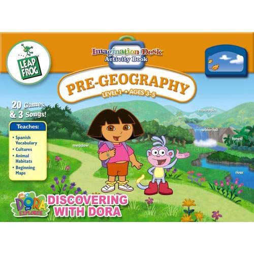 IMagination Desk: Discovering with Dora Interactive Color-and-Learn Book and Cartridge by LeapFrog Enterprises, Inc.