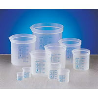 DYNALON Graduated Beaker,50mL,Pk10, 522085-0050