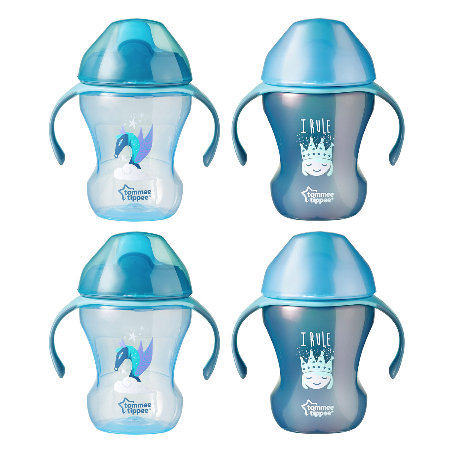Tommee Tippee Trainer Transition Sippee Cup, 7m+, 8oz, 4pk, Girl by Tommee Tippee