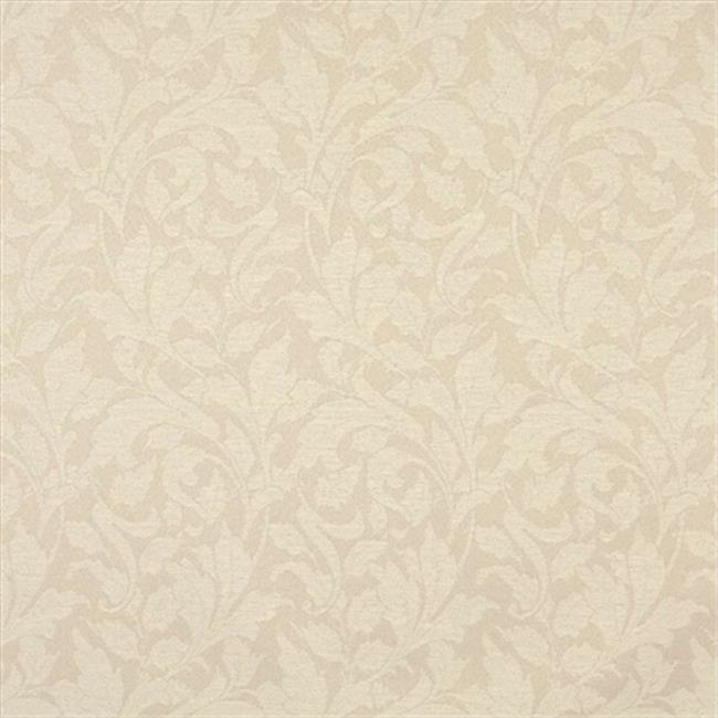 Designer Fabrics F605 54 inch Wide Ivory, Floral Leaf Outdoor, Indoor, Marine Scotchgarded Fabric