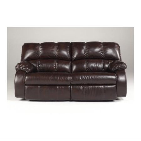 Ashley knockout durablend 4260147 2 seat reclining power for Ashley durablend chaise