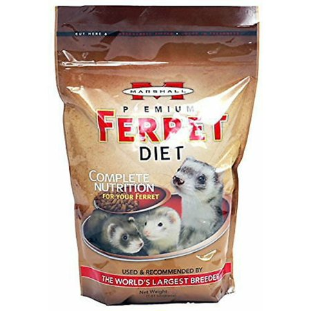 Marshall Premium Ferret Diet - Marshall Premium Ferret Diet Food, 132oz (6 x 22oz)