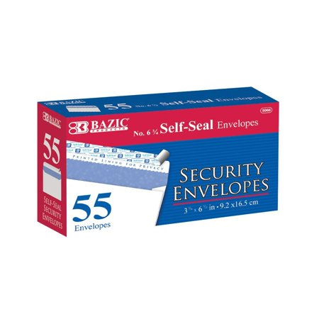 New 402126   #6 3 / 4 Self- Seal Security Envelope (55 / Pack) (24-Pack) Office Supply Cheap Wholesale Discount Bulk Stationery Office Supply Envelope (Stationery Envelopes)