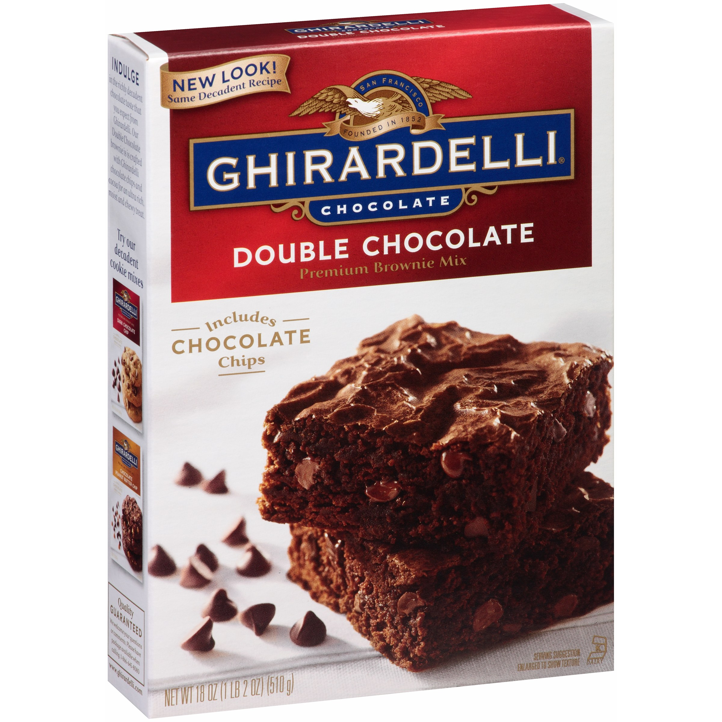 Ghirardelli Double Chocolate Premium Brownie Mix, 18 oz