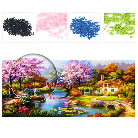NAIYUE 31 * 15 inches DIY 5D Diamond Painting Kit Scenery Pattern Rhinestone Mosaic Embroidery Cross Stitch Craft Home Wall