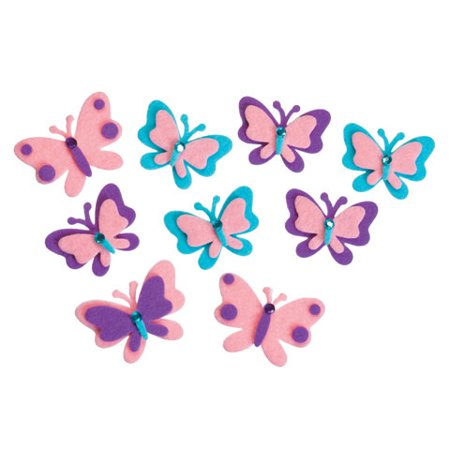 Crystal Stickers Stones - Felt Stickers Butterfly 2 Gems 20Pc