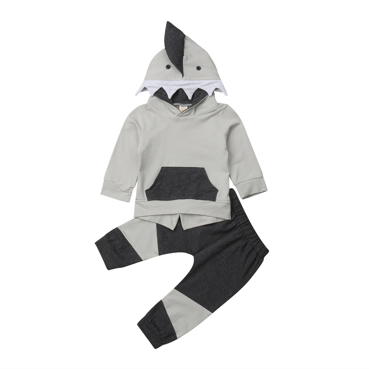 NWT Shark Boys Hooded Sweat Shirt /& Pants Outfit Set 12 18 M 2T 3T 4T