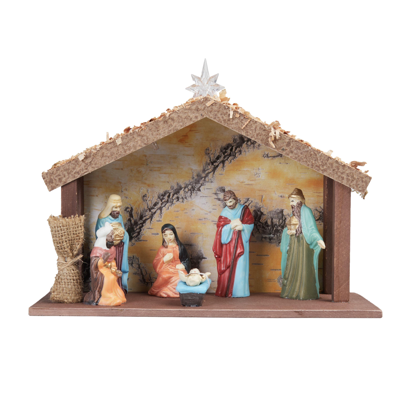 Holiday Time 8pcs B/o Nativity Set