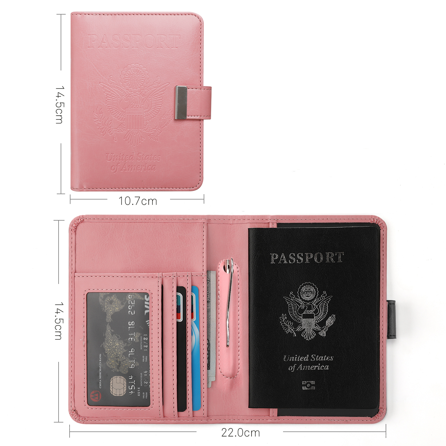 Passport Holder Case Tower In The City Protective Premium Leather RFID Blocking Wallet Case for Passport