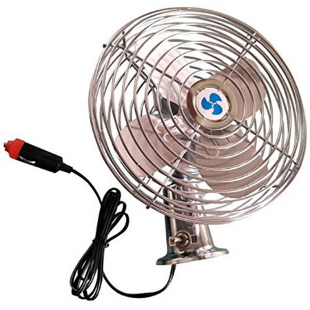 Heavy Duty Fan >> Aleko 6 Inch Deluxe 12v Heavy Duty Metal Car Fan Walmart Com