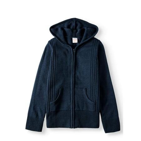 Wonder Nation Girls School Uniform Hooded Sweater (Little Girls & Big Girls) ()