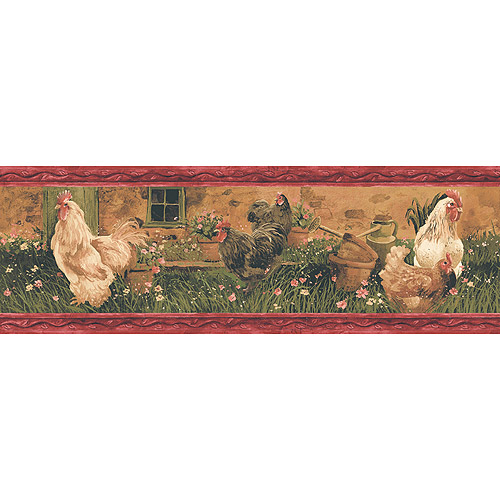 Rooster Wallpaper Border