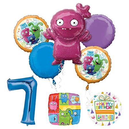 Mayflower Products Ugly Dolls Party Supplies 7th Birthday Balloon Bouquet Decorations](Ugly Birthday)