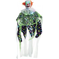 """5"""" Battery Operated Light Up Hanging Evil Clown Halloween Decoration Prop"""