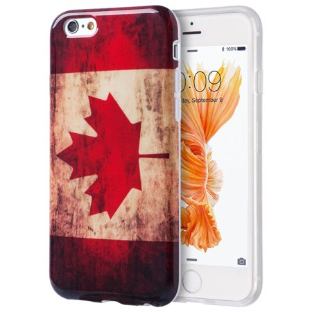 Apple Iphone 6 / 6S Plu Spatriotic Vintage Flag Series Imd TPU Case - Canada - Halloween Series Imdb