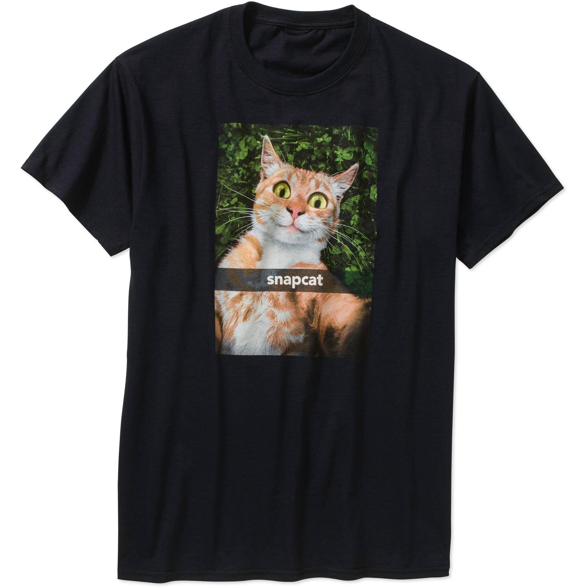 1884503d Humor - Snapcat Men's Graphic Tee - Walmart.com