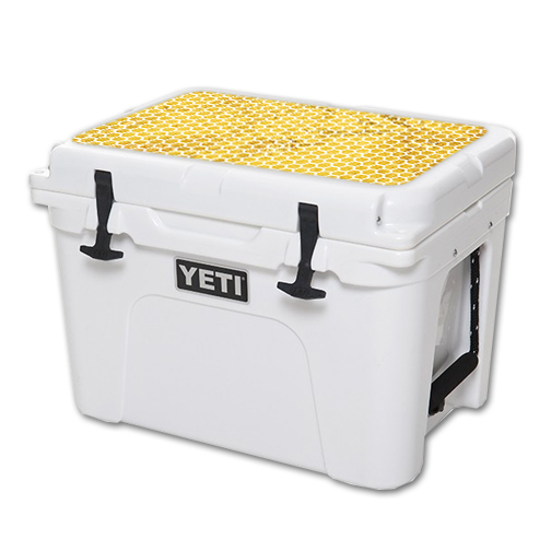 MightySkins Protective Vinyl Skin Decal for YETI Tundra 35 qt Cooler Lid wrap cover sticker skins Honeycomb