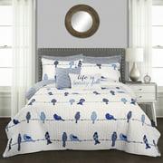 Rowley Birds 7-Piece Quilt & Sham Bedding Set
