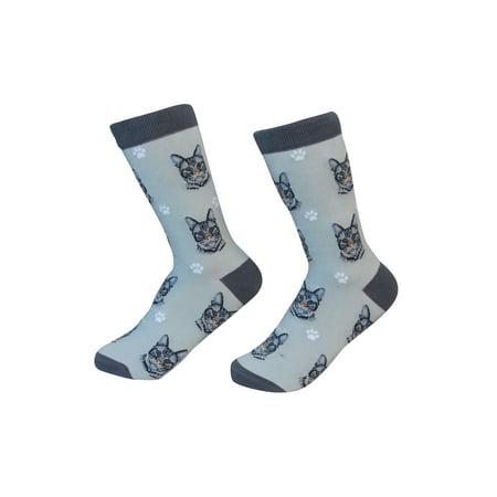 Silver Tabby Cat Breed Socks Unisex Sock Daddy by E&S Pets (50s Socks)