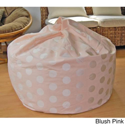 Delightful Dots 36-inch Washable Bean Bag Chair Blush Pink
