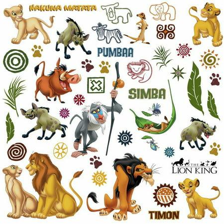 Disney LION KING Wall Decals Simba Pumbaa Peel & Stick Kids Room Decor Stickers